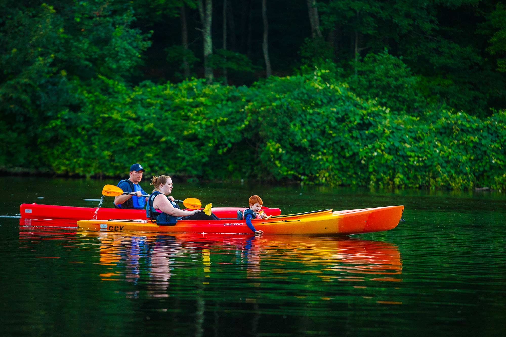 Kayaking Family, Collinsville, CT - 8/1/15