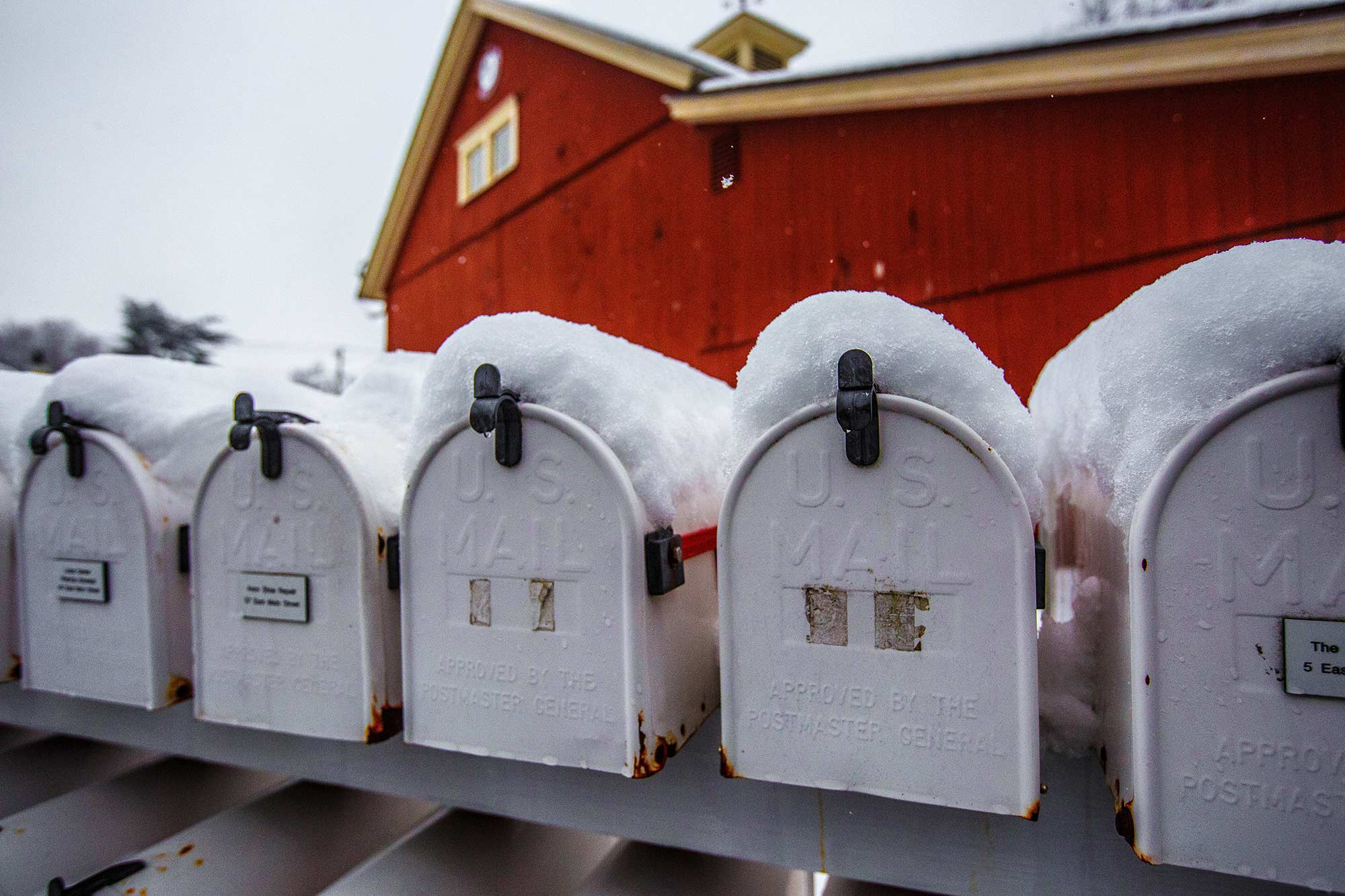 Mailboxes at Avon Old Village, Avon, CT - 1/24/15