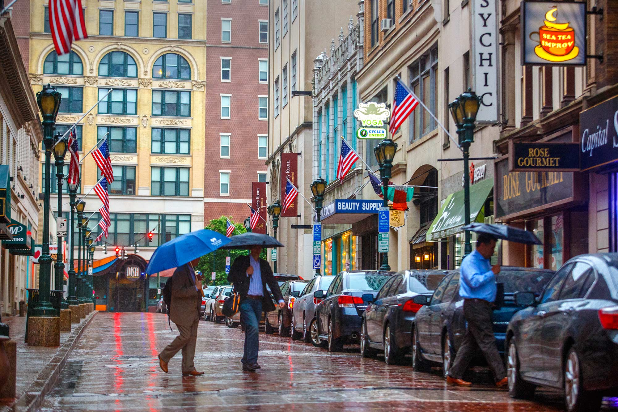 Rainy Pratt Street, Hartford, CT - 6/1/15