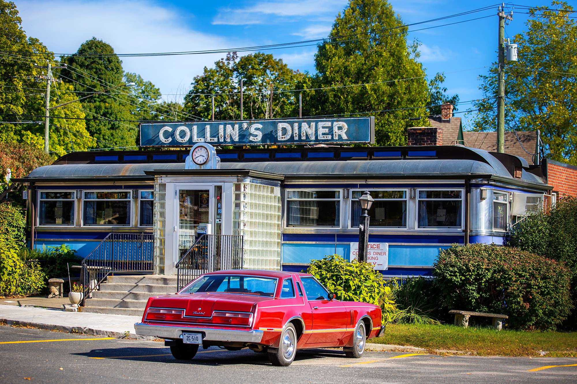 Collin's Diner and a T-Bird, North Canaan, CT- 9/27/15